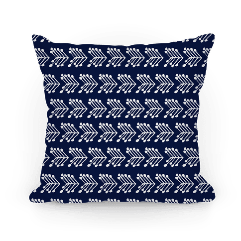 Navy Cute Chevron Pattern Pillow
