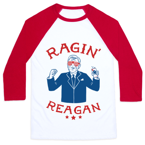 Ragin' Reagan Baseball Tee