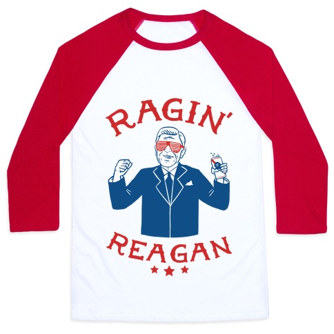Ragin' Reagan Baseball Tee