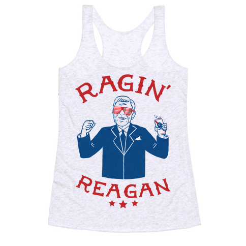 Ragin' Reagan Racerback Tank Top