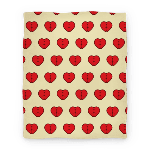 Butt Heart Blanket (Light) Blanket