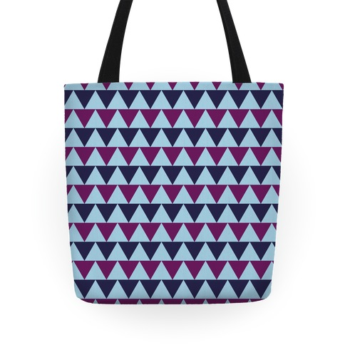 Triangle Pattern Tote (Blue) Tote