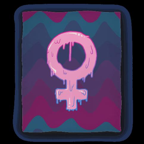 Pink Slime Feminism Blanket