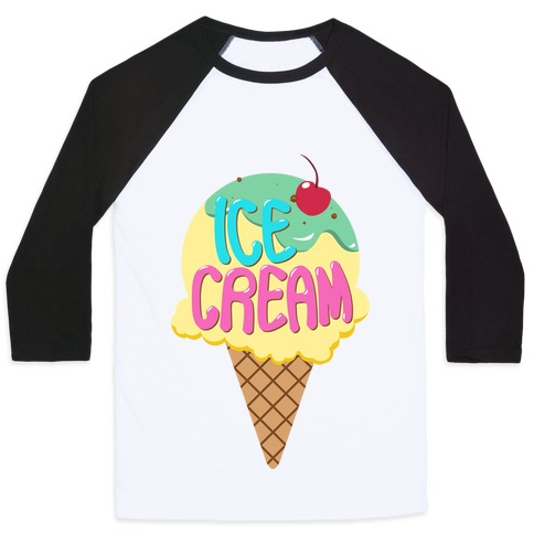 Ice Cream (Tank) Baseball Tee