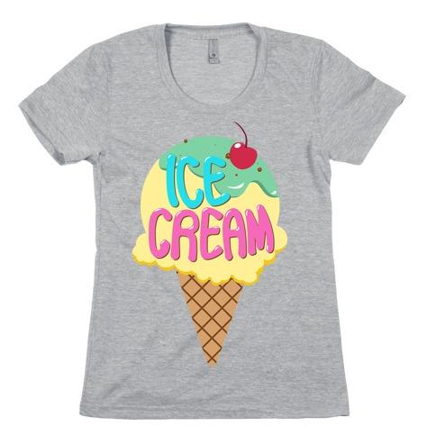 Ice Cream (Tank) Womens T-Shirt