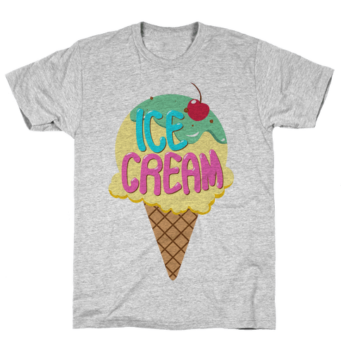 Ice Cream (Tank) Mens T-Shirt