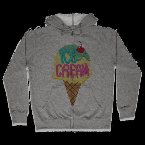 Ice Cream (Tank) Zip Hoodie