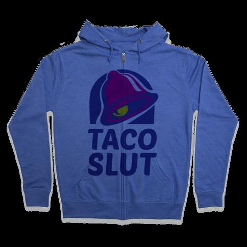 Taco Slut Logo Zip Hoodie