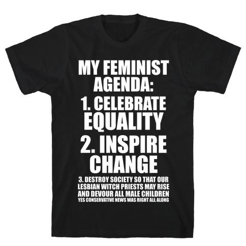My Feminist Agenda Mens T-Shirt