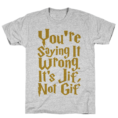 It's Jif Not Gif Mens T-Shirt