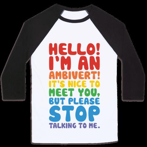 Hello I'm An Ambivert