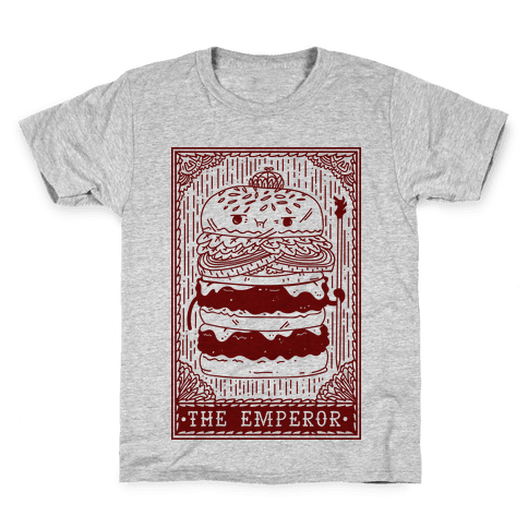 Burger Emperor Tarot Card Kids T-Shirt