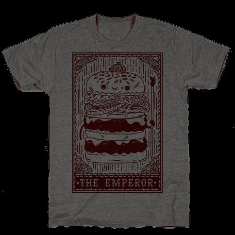 Burger Emperor Tarot Card