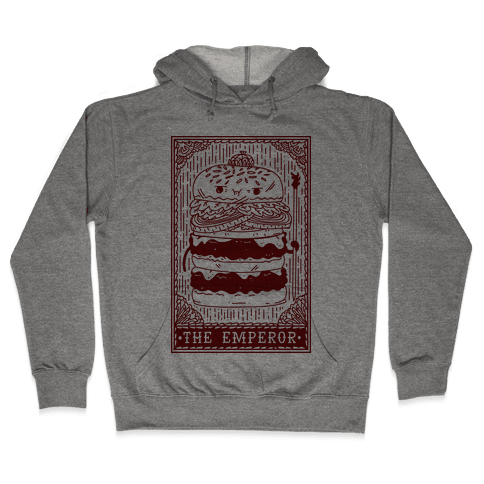 Burger Emperor Tarot Card Hooded Sweatshirt