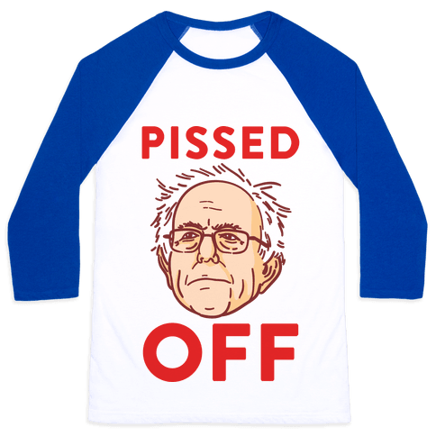 Pissed Off Bernie Baseball Tee