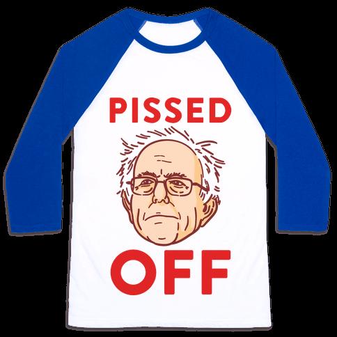 Pissed Off Bernie Baseball Tee