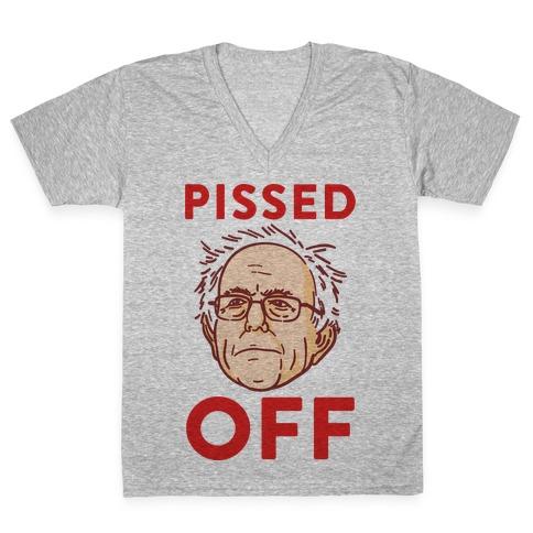 Pissed Off Bernie V-Neck Tee Shirt