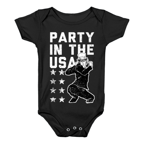 Party In The USA Uncle Sam Baby Onesy