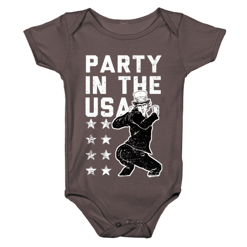 Party In The USA Uncle Sam Baby One-Piece