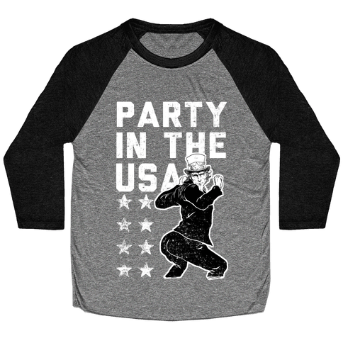 Party In The USA Uncle Sam Baseball Tee