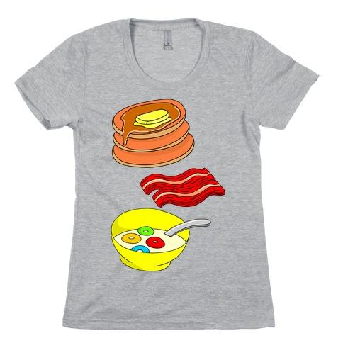 Balanced Breakfast Womens T-Shirt