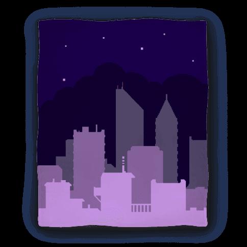 Pixel Cityscape Blanket