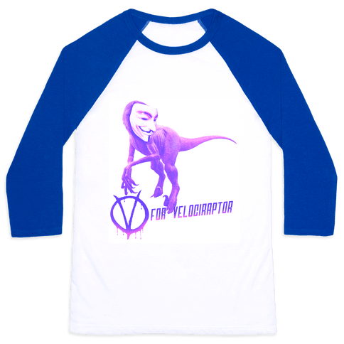 V is for Velociraptor! Baseball Tee
