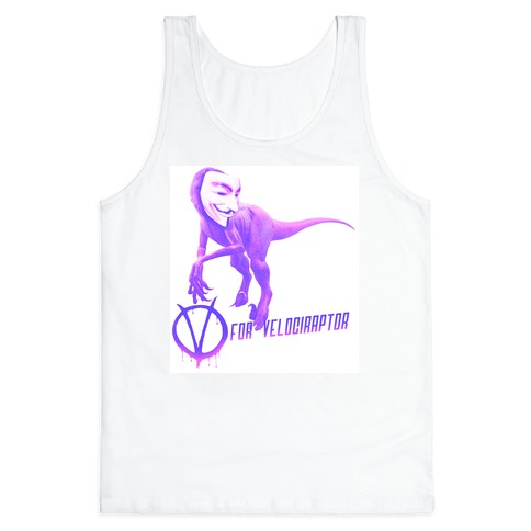 V is for Velociraptor! Tank Top