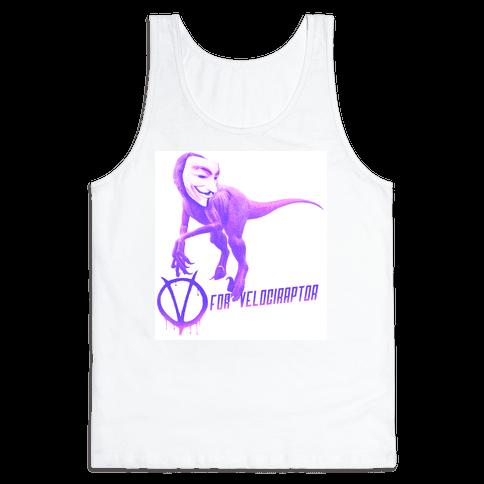 V is for Velociraptor! Tank Top