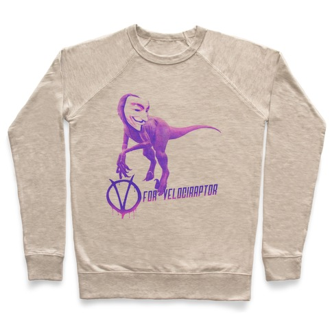 V is for Velociraptor! Pullover