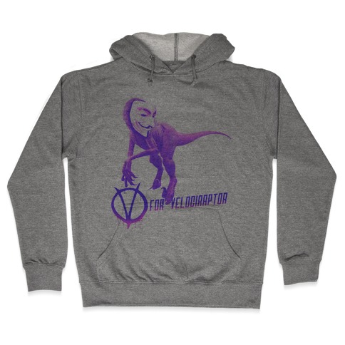 V is for Velociraptor! Hooded Sweatshirt