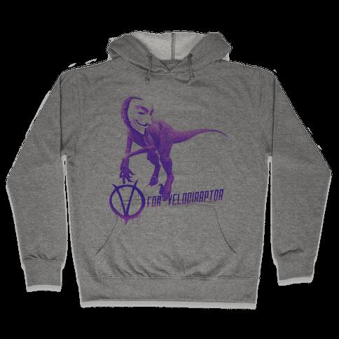 V is for Velociraptor! Hooded Sweatshirt