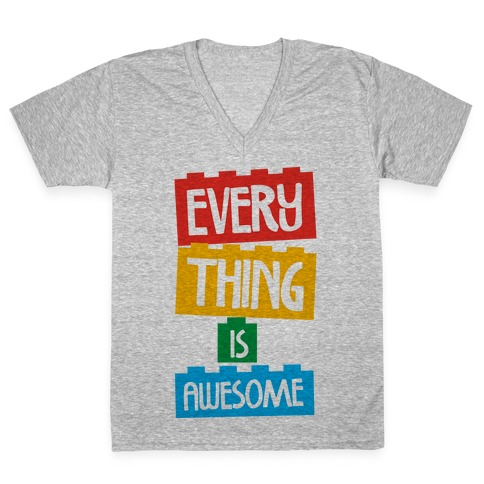 Everything is Awesome V-Neck Tee Shirt