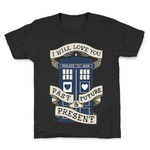 Doctor Who Love Past Future Present Kids T-Shirt