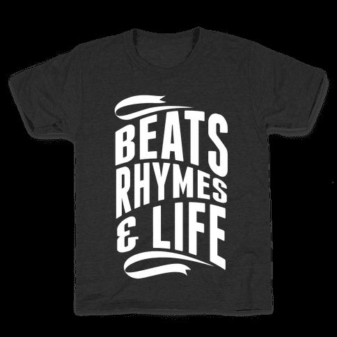 Beats, Rhymes And Life Kids T-Shirt