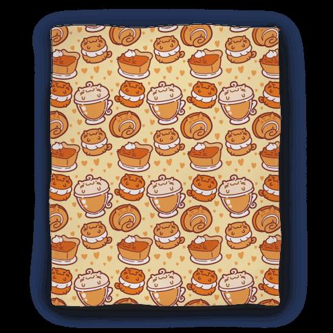 Purrmpkin Spice Cat Blanket Blanket