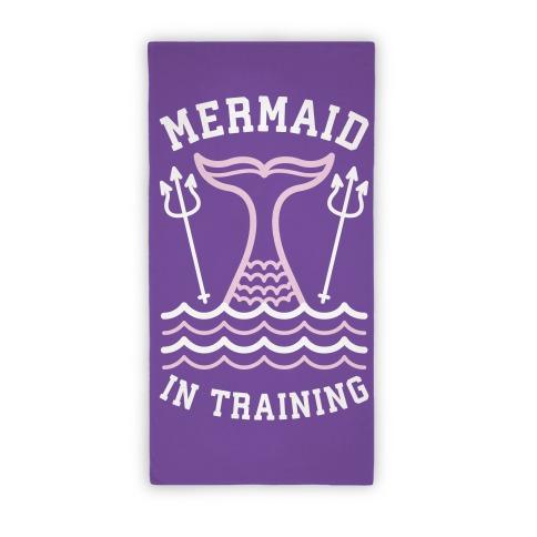 Mermaid In Training (Towel) Beach Towel