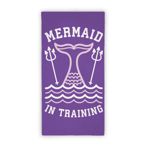Mermaid In Training (Towel) Beach Towel