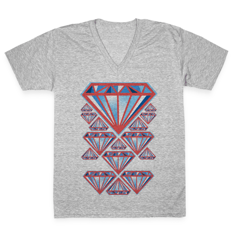 American Diamonds V-Neck Tee Shirt