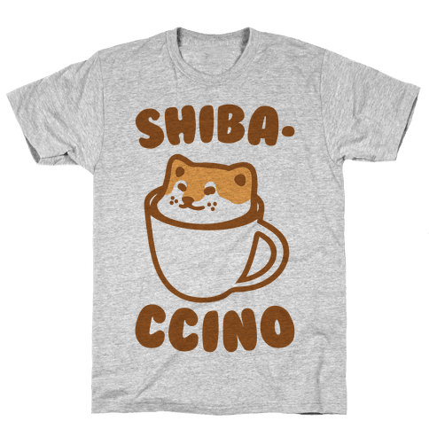 Shibaccino  Mens T-Shirt