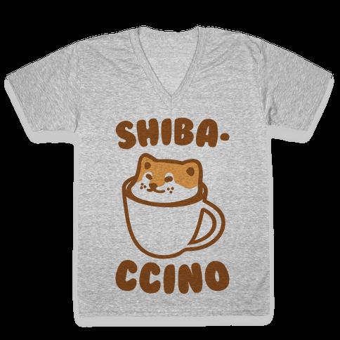 Shibaccino  V-Neck Tee Shirt
