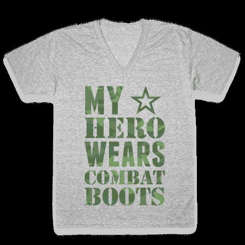 My Hero V-Neck Tee Shirt