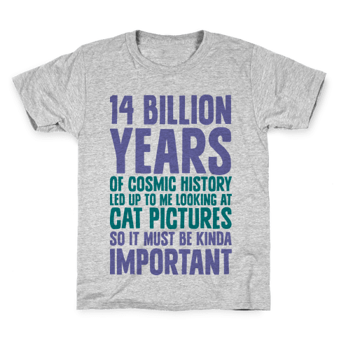 14 Billion Years of Cosmic History Kids T-Shirt