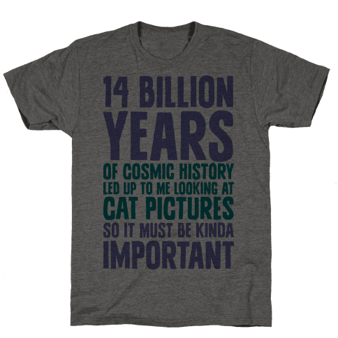 14 Billion Years of Cosmic History Mens T-Shirt
