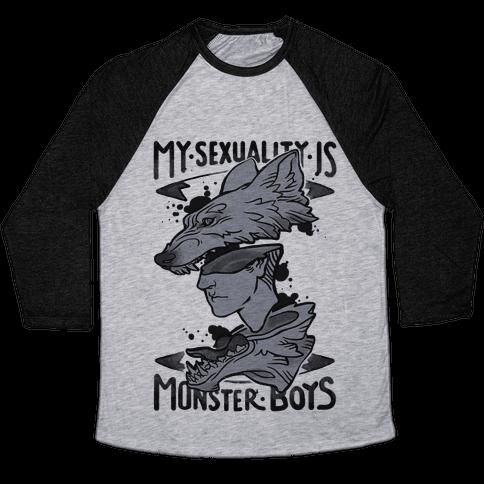My Sexuality Is Monster Boys Baseball Tee