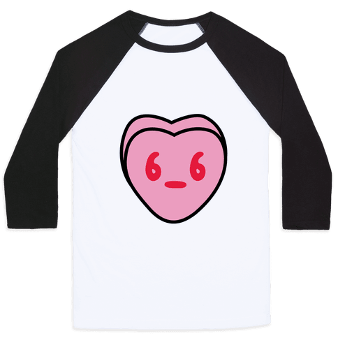 Candy Heart Side Eye Baseball Tee