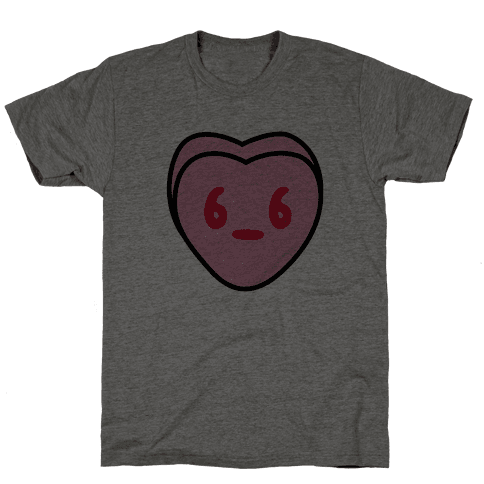 Candy Heart Side Eye Mens T-Shirt