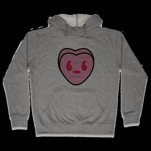 Candy Heart Side Eye Hooded Sweatshirt