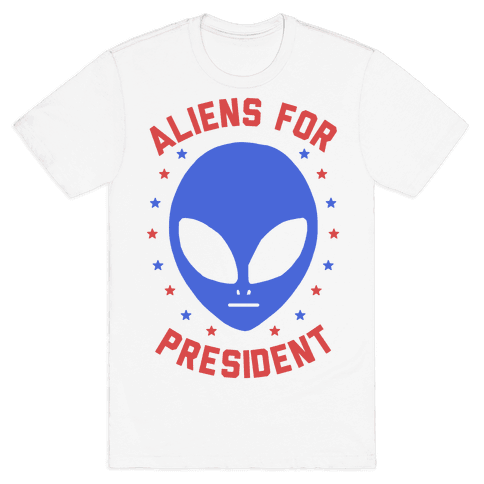 Aliens For President Mens T-Shirt