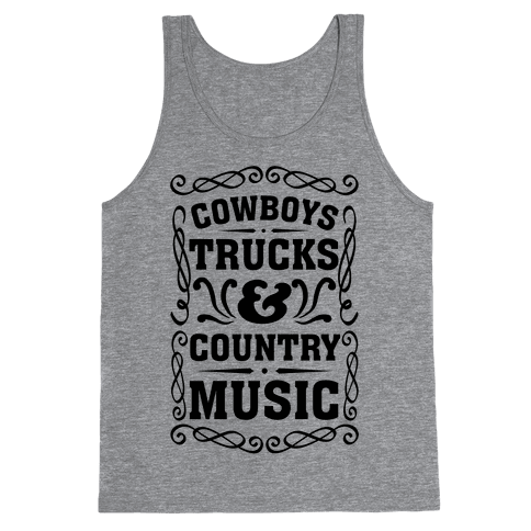 Cowboys Trucks & Country Music Tank Top